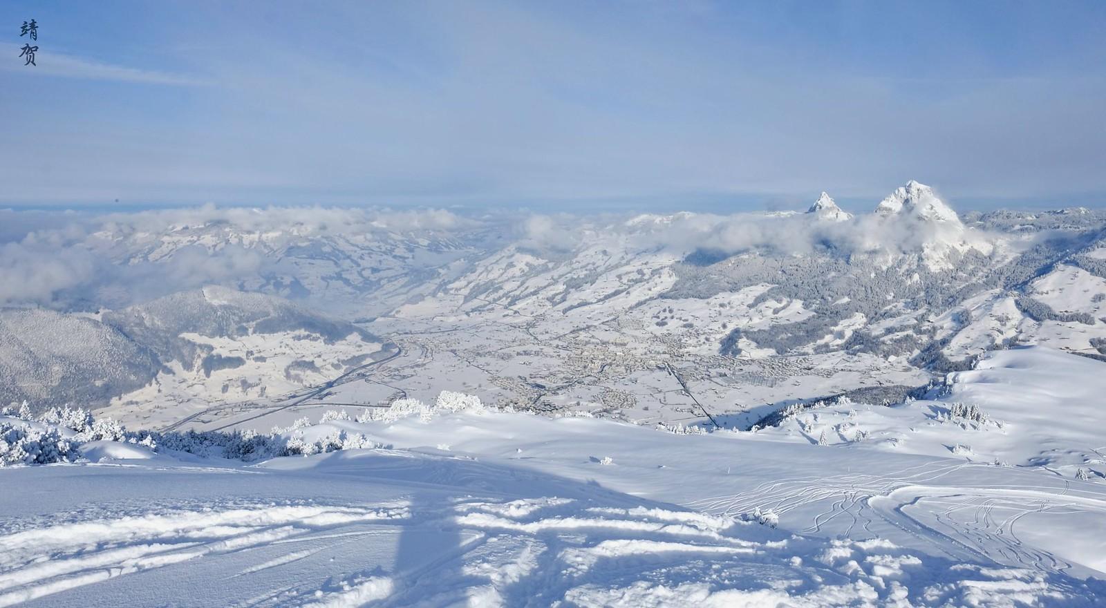 View of Schwyz from Panoramapiste