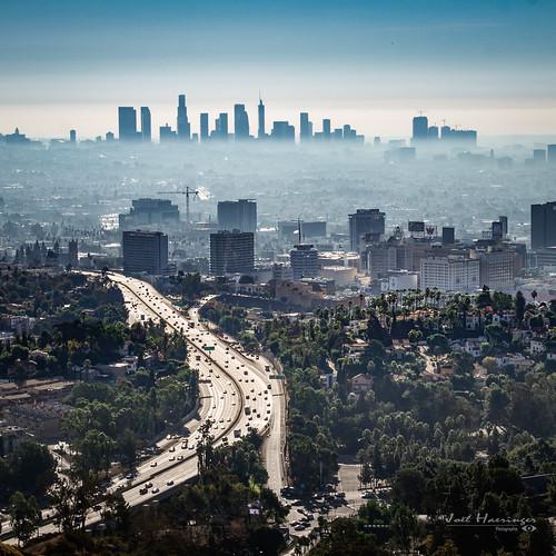 losangeles la bigorange city cityscape mornig sunshine sunrise fog foggy mist building downtown hollywood fuji xt2