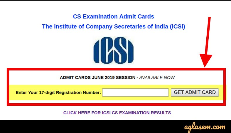 CS Foundation June 2019 Admit Card (Released) - Download Here