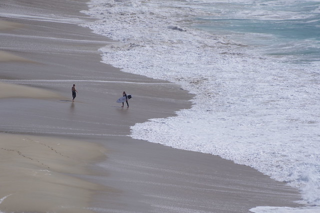 Small people, big waves.
