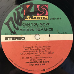 MODERN ROMANCE:CAN YOU MOVE(LABEL SIDE-A)