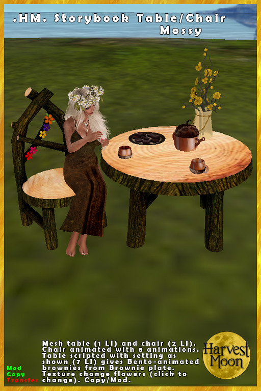 Harvest Moon – Storybook Chair & Table – Mossy