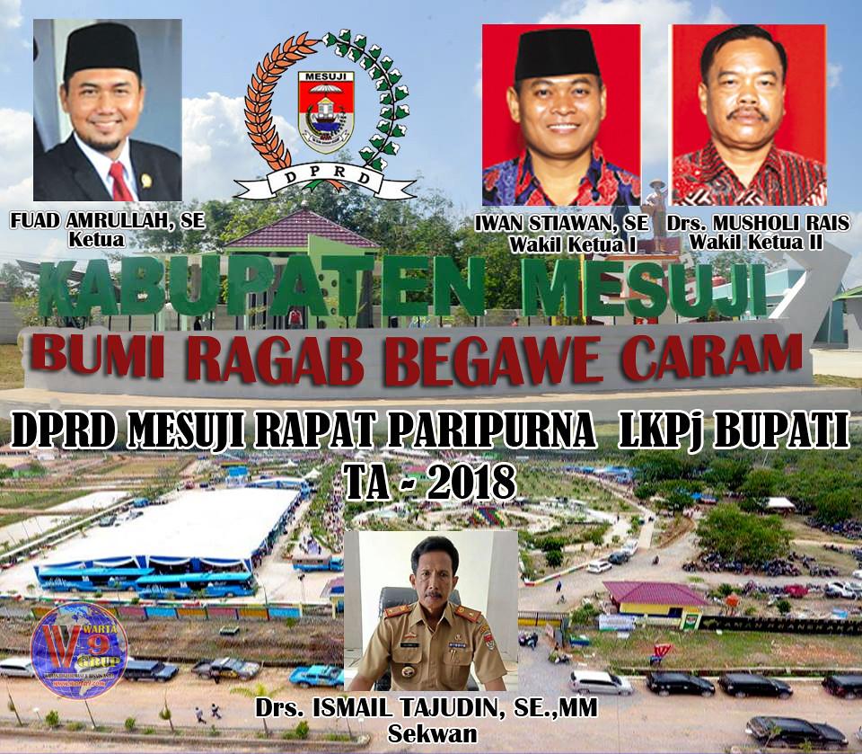 DPRD Mesuji Gelar Rapat Parpurna Penyampaian LKPj Bupati TA-2018
