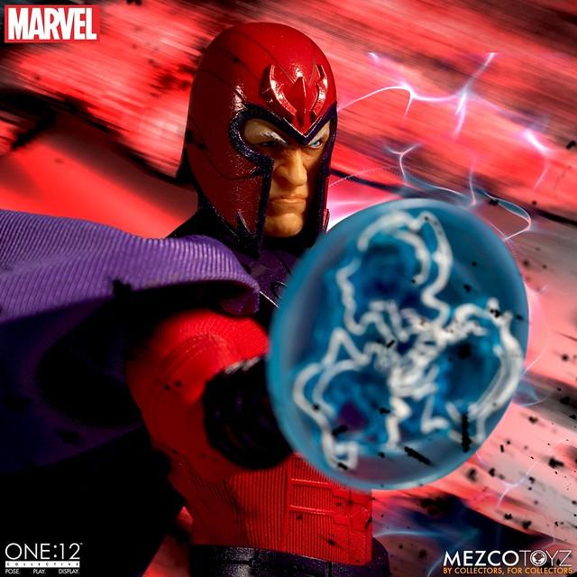 「臣服在這股力量之下吧,人類!」MEZCO ONE:12 COLLECTIVE 系列 Marvel【萬磁王】Magneto 1/12 比例人偶作品