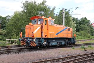 Die kürzlich neu erworbene Northrail MaK M700 C fährt nun für die WHE im Bottroper Hafen