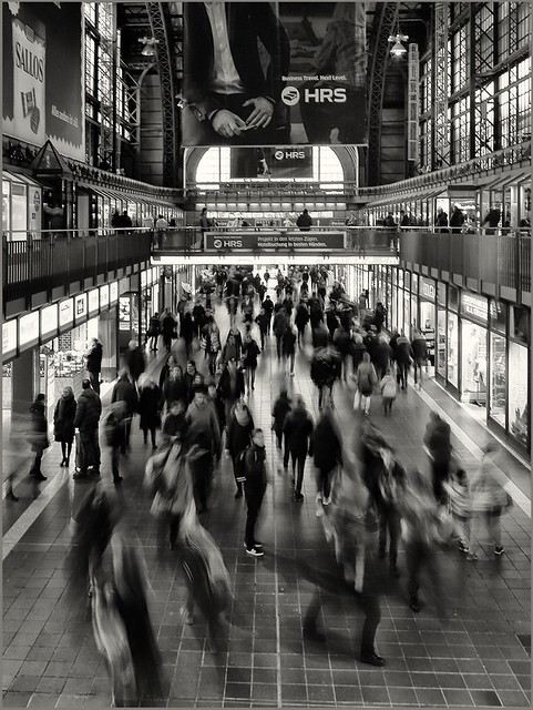 Rush hour at central station