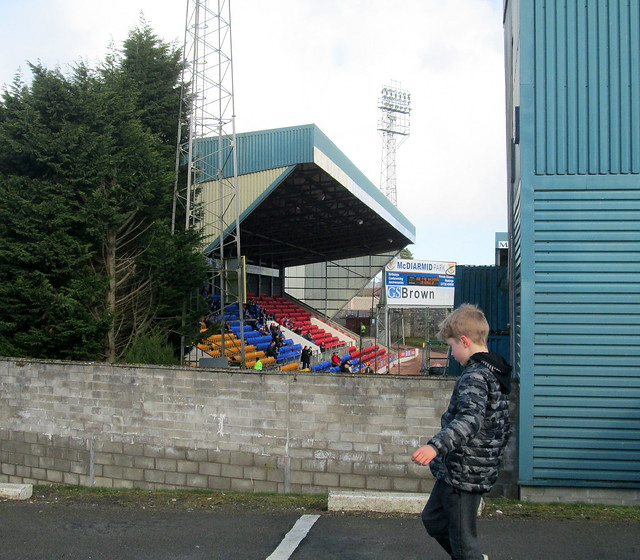 View of North Stand, McDiarmid Park, Perth