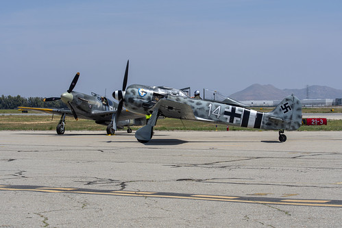 Fw-190 and the P-51A on the Ramp