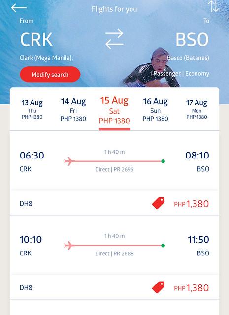 Philippine Airlines Promo Fare Clark to Batanes
