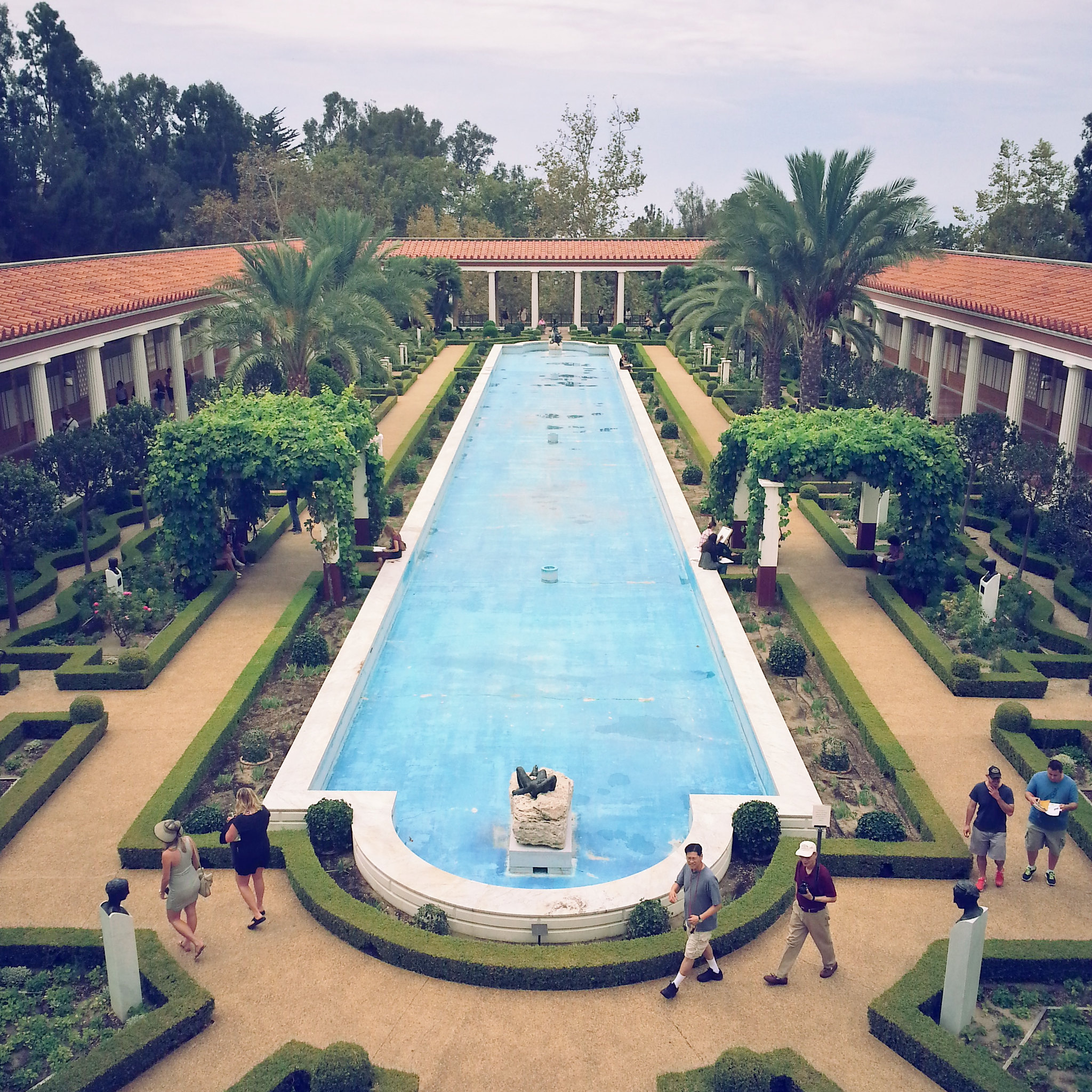 Getty Villa view from balcony 7-18-15