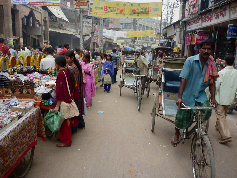 within the center of Varanasi