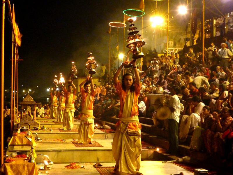 Maha-Aarti ceremony