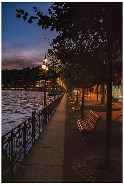 Lugano , Twilight time. Canton Ticino, Switzerland. No.DSC_6539.