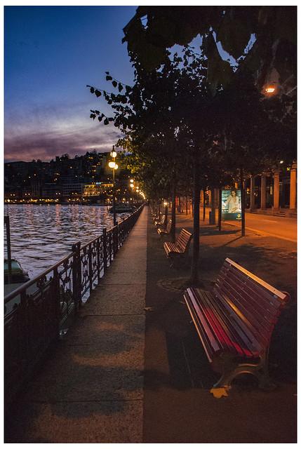 Lugano , Twilight time. Canton Ticino, Switzerland. No.DSC_6537.