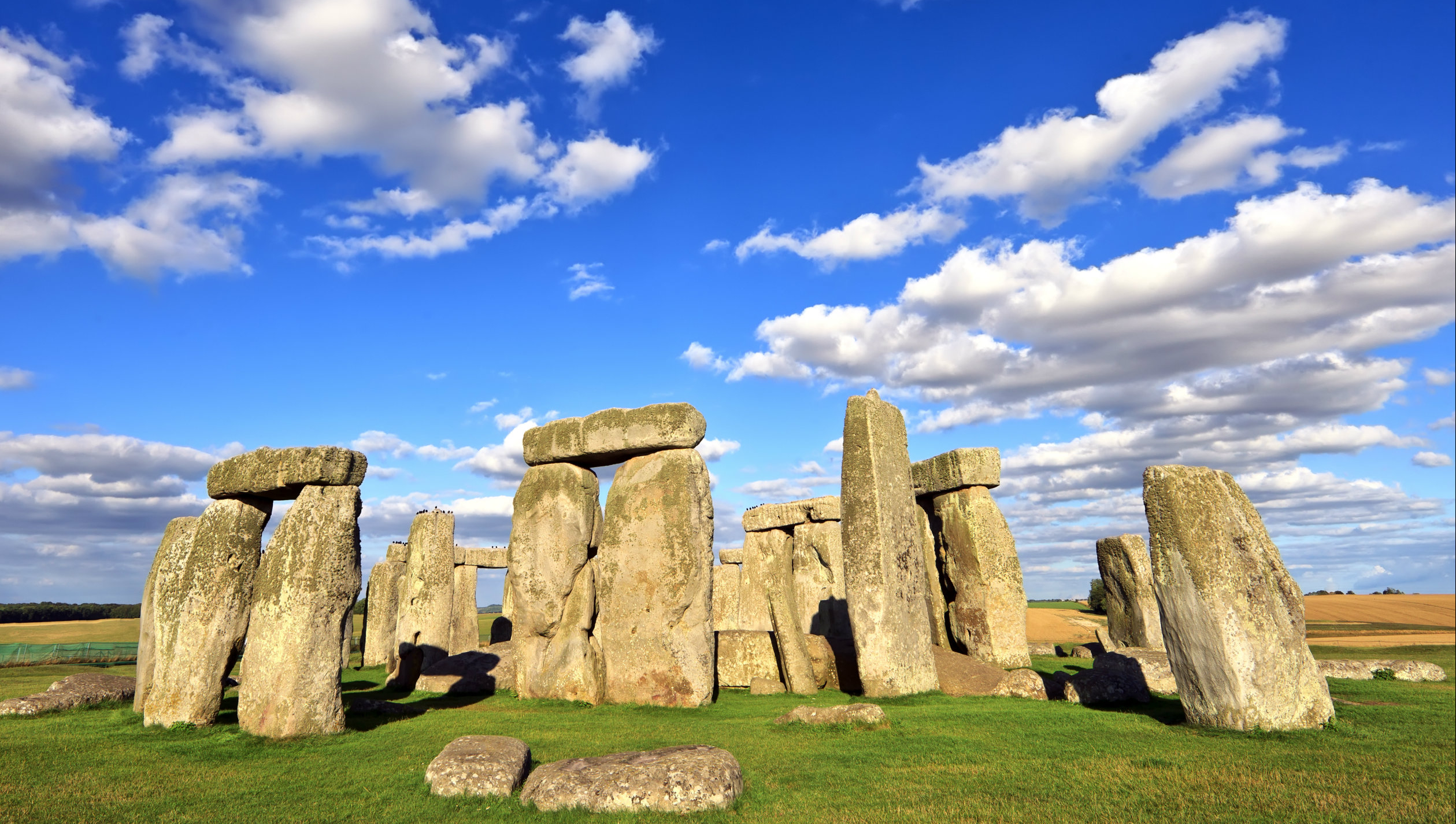 View of the Stonehenge on a sunny day