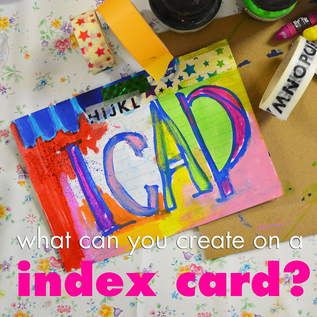 Creative Process Video for Index Card Collage – day 1
