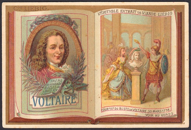 """Liebig S191 - Classic French Authors """"Voltaire"""""""