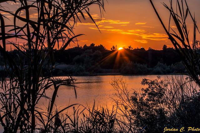 Tramonto (Sul lago dorato)