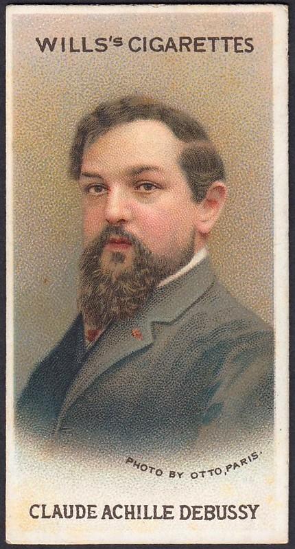 Cigarette Card - Claude Achille Debussy