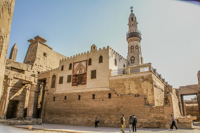 An old mosque in ancient Egypt's Luxor temple complex