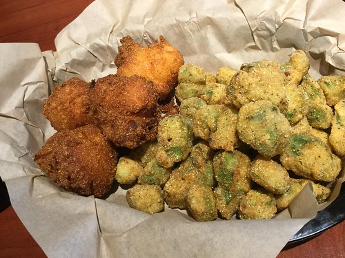 Hush puppies and okra