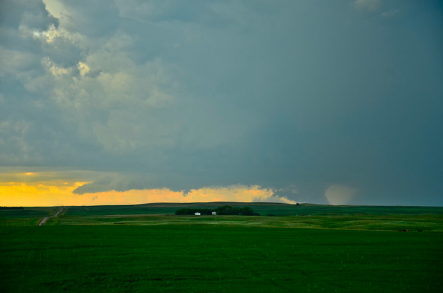 Ground Scraping Wall Cloud