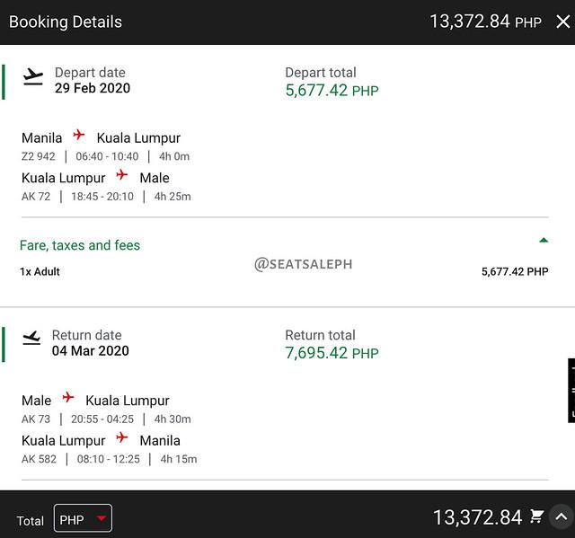 AirAsia Promo Manila to Maldives Roundtrip