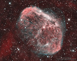 NGC6888 Crescent Nebula in Narrowband Bicolour Palette | by LightVortexAstronomy