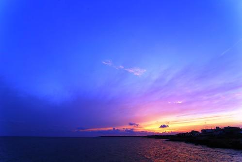 baleares mallorca sarapita sea mar sky cielo clouds nubes sunset atardecer puestadesol canon eos6d blue azul tokina canoneos