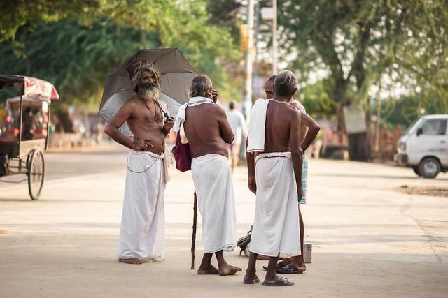 Sadhu group, Umbrella - Takumar 135mm 2.5