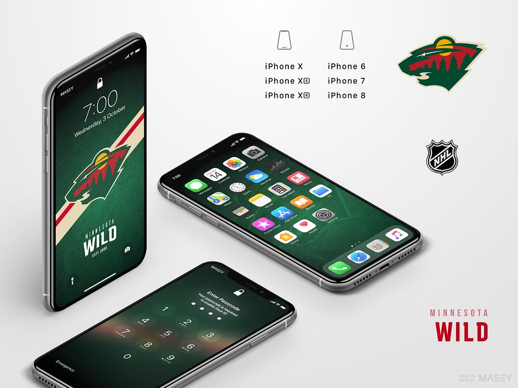 Minnesota Wild iPhone Wallpaper