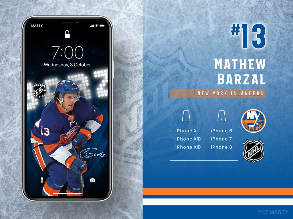 Mathew Barzal (New York Islanders) iPhone Wallpaper