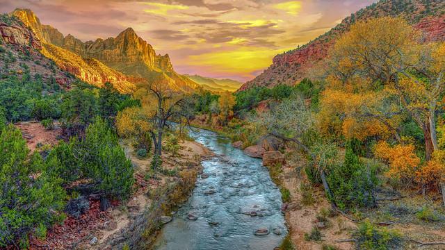 Sunset at Zion National Park - D800-11-14-18DSC_7045_10540