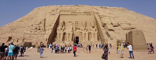 The Great Temple of Ramesses II in Abu Simbel, Aswan, Egypt.