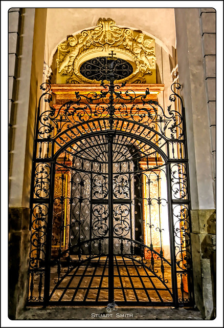 Gates & Entry, St Clement's Cathedral, Karlova, Old Town, Prague, Czech Republic