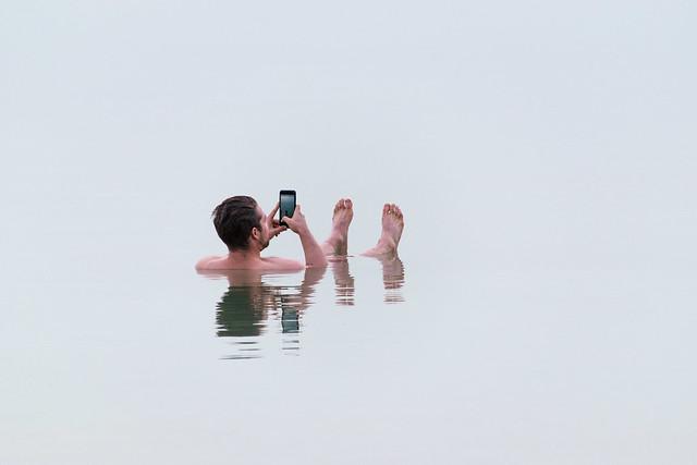 Selfie in the Dead Sea