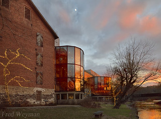 Sunset at the Brandywine River Museum of Art