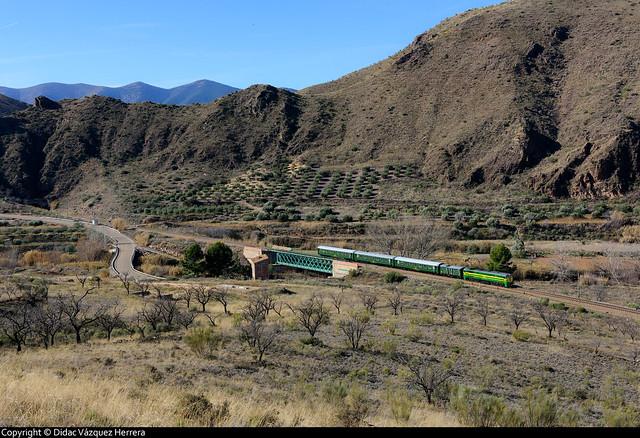 Tren histórico en Villanueva de Jalón.