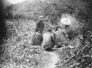 A group of Chinese men having a break, Hong Kong, ca. 1910