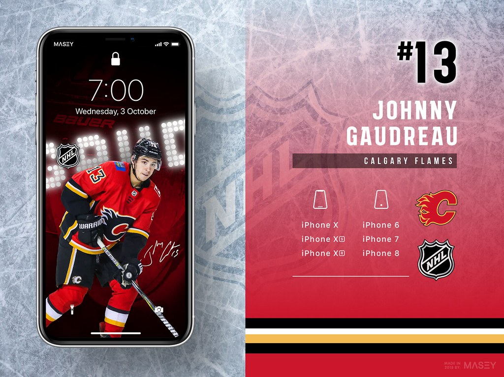 Johnny Gaudreau (Calgary Flames) iPhone Wallpaper