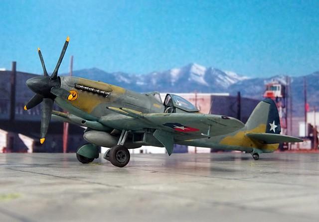 "1:72 Supermarine Spitfire F Mk. 22 (Type 356), aircraft ""217"" of the Grupo de Aviacion 8, Fuerza Aérea de Chile (FACh/Chilean Air Force); Cerro Moreno AB/Antofagasta, Northern Chile, 1956 (Whif/Special Hobby kit)"