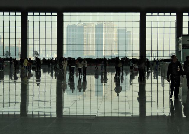 Inside the Hefei south rapid railway station, China