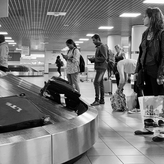 Waiting for luggage
