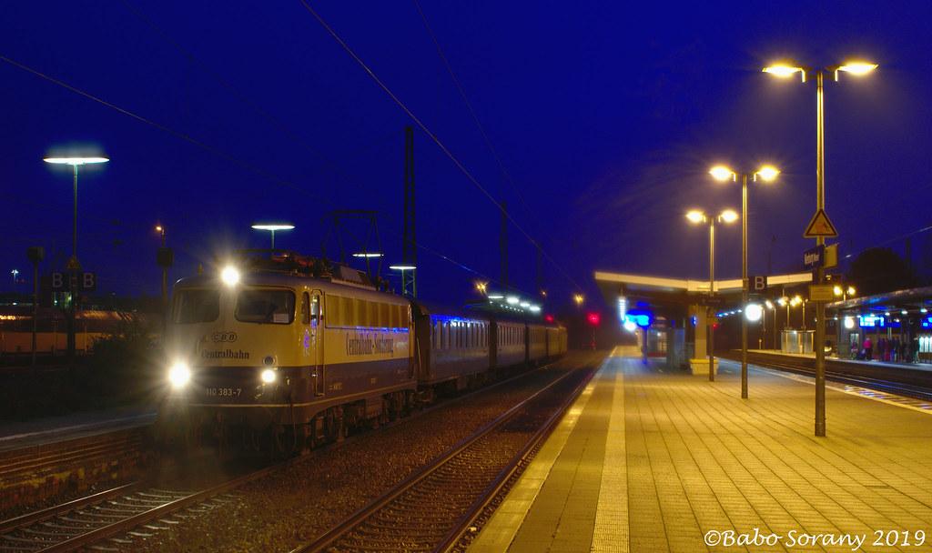 ERB/CBB 110 383+CH-CBB wagens+119 278   Nienburg