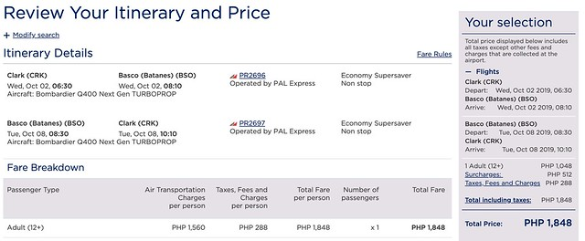 Clark to Batanes Philippine Airlines Roundtrip Promo