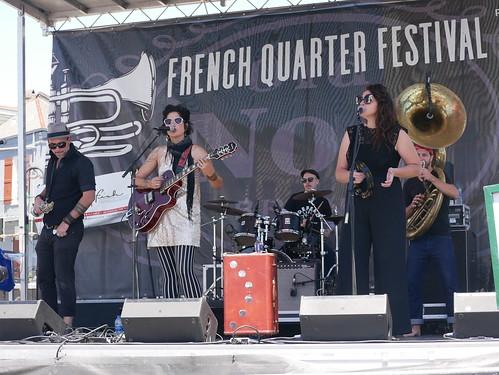 Bon Bon Vivant at French Quarter Fest - 4.14.19. Photo by Louis Crispino.