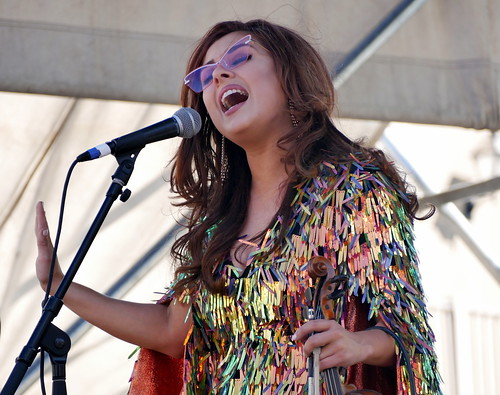 Amanda Shaw at French Quarter Fest - 4.14.19. Photo by Louis Crispino.