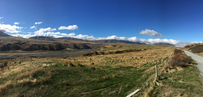 drive through rangitata river valley