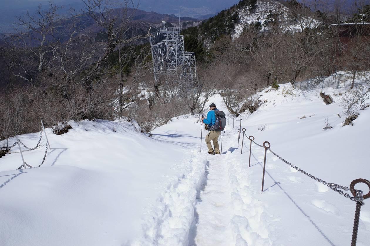 三ッ峠山 日帰り雪山登山
