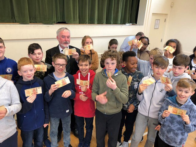 Andrew Coleman of Christian Aid in Cork with some of the Douglas Union of Parishes Confirmation group 2019.